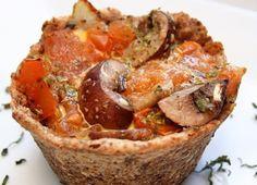 tarteletas de champiñones listas Muffins, Mini, Blog, Breakfast, Mushroom Pie, Flaxseed Flour, Mushrooms, Gastronomia, Recipes