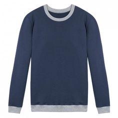 Le Coude à Coude Bleu - SweatShirt bicolore