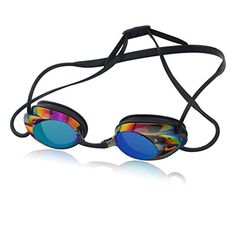 Little Cherry Professional Racing Colored Mirrored Lenses Swimming GogglesAntiFogWatertight Sealing Coating Adult Swim Eyewear with Case Black ** For more information, visit image link.(It is Amazon affiliate link) #sanfrancisco