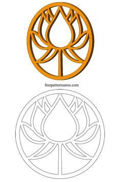 Lotus Symbol Vector Scroll Saw Decorative Wooden Lotus Flower Pattern . Lotus Symbol, Flower Symbol, Woodworking Patterns, Woodworking Crafts, Woodworking Plans, Woodworking Projects, Paper Embroidery, Embroidery Patterns, Flower Embroidery