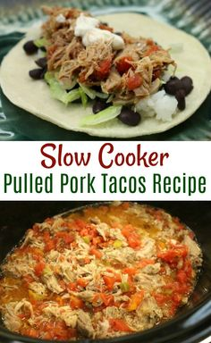 Hillbillys Pulled Pork Tacos Recipe - One Hundred Dollars a Month Pulled Pork Tacos, Pulled Pork Recipes, Entree Recipes, Mexican Food Recipes, Slow Cooker Recipes, Crockpot Recipes, Chili, Those Recipe, Healthy Eating
