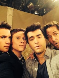 Casey Moss, Guy Wilson, Freddie Smith and Shawn Christian #DAYS @nbcdays