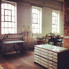 Hello Print Studio, Margate - What a lovely place to make art. Just a few things here I covet, well I would really like... S