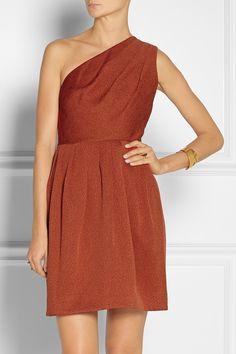 Halston Heritage Pleated jacquard dress NET-A-PORTER.COM