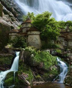 Waterfall Castle Poland