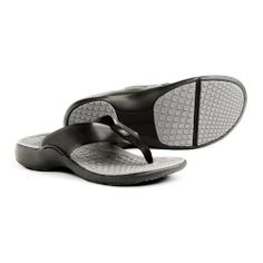 Superfeet FLP Orthotic Sandals - Mens Charcoal Sandal Size: Mens 7 by Superfeet. $65.00. Seamless strap construction provides frictionless comfort against the skin.. Rebound high impact foam top layer increases shock absorption and energy transfer.. Ultra-light, asymmetric straps incorporate BallSpanTM technology for lightweight durability and a slight spring-back.. Deep heel cup cradles the heel's natural fat pad to optimize shock absorption.. Built-in orthotic ...