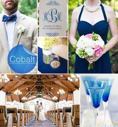cobalt and pink fall wedding color ideas 2014 #elegantweddinginvites
