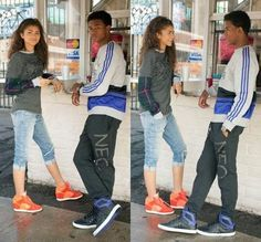Photo of Zendaya  and trevor jackson together