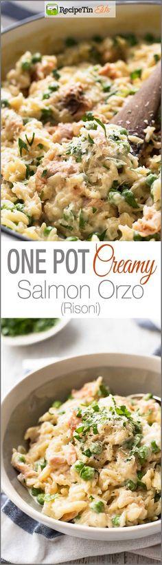 Creamy Salmon Risoni