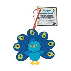 Peacock+Christmas+Ornament+with+Poem+Craft+Kit+-+OrientalTrading.com