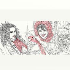 """Proposte   Series of mini """"Ways to Wear"""" fashion illustrations for Women's Luxury Shawl Brand   contest di illustrazioni o grafica"""