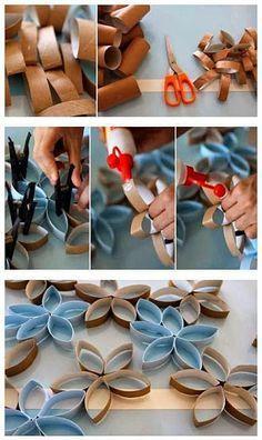 Ideas: Decora tus paredes con rollos de papel higiénico | Decorar tu casa es facilisimo.com