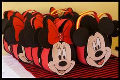 Cute favors at a Minnie and Mickey Mouse birthday party!   See more party ideas at CatchMyParty.com!