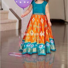 Kids Ikkat Pattu Lehenga in to 3 To order please WhatsApp us to or call us to Work Blouse, 3 Years, Lehenga, Blouse Designs, Orange Color, Hand Weaving, Stitch, Colors, Unique