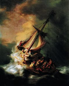Another one-of-a-kind... Rembrandt's only seascape: 'The S… | Flickr