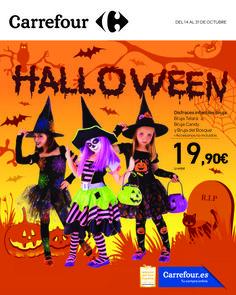 Folleto Carrefour: Halloween -  Catálogo especial de Carrefour para Halloween en el encontrarás disfraces y accesorios. Además artículos decorativos, y gominolas para halloween.   #Carrefour, #Folletosonline   Ver en la web : http://ofertassupermercados.es/folleto-carrefour-halloween/