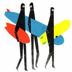 Surf Art by Keiron Lewis Beach Illustration, Graphic Illustration, Ocean Art, Illustrations, Photo Art, Design Art, Art Projects, Art Pieces, Character Design