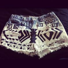 Time Is Love: Diy tribal shorts