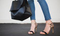 Joie top, Rich & Skinny jeans, Alexandre Birman heels, Celine bag, Marit Rae necklace.