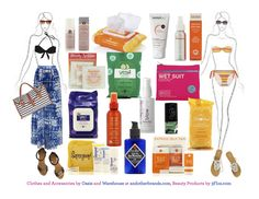 Everything you need for a perfect beach day from Oasis, Warehouse and 3Floz.com #Selfmagazine #TreatYoSelf
