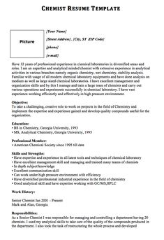 Chemist Resume Interesting Nice Excellent Culinary Resume Samples To Help You Approved Check .