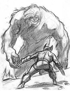 brentschoonover:  davidesky2:  Marvel superheroes by Rodolphe...