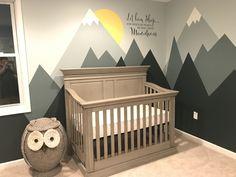 Mountain nursery Source by Baby Bedroom, Baby Boy Rooms, Baby Room Decor, Baby Boy Nurseries, Nursery Room, Kids Bedroom, Owl Nursery, Disney Nursery, Mountain Nursery