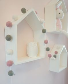 Stone and Co Felt Ball Pom Pom Garlands For Nursery, Bedrooms, Decorations by Stoneandcoshop on Etsy https://www.etsy.com/uk/listing/257169314/stone-and-co-felt-ball-pom-pom-garlands