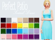 Purrsephone  : Perfect Patio Formal Dress Recoloured Let me know...