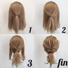 Coiffure facile Facile rapideYou can find Blonde brunette and more on our website. Pretty Hairstyles, Braided Hairstyles, Easy Hairstyles For Medium Hair, Updos For Medium Length Hair Tutorial, Low Pony Hairstyles, Easy Everyday Hairstyles, Medium Hair Tutorials, Easy Hair Tutorials, Medium Hair Ponytail