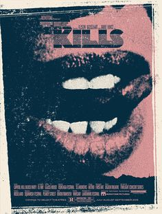 The Kills. Poster design: Your Cinema (2015).