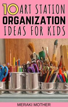 Organize your kids' art station with these 10 brilliant art station organization ideas! #craftssupplies #artstation #craftstorage #stationerystorage #storagesolutions #organize Kids Art Storage, Art Supplies Storage, Kids Craft Supplies, Arts And Crafts Supplies, Craft Storage, Projects For Kids, Crafts For Kids, Art Projects, Storage Ideas