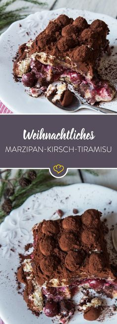 Um den Klassiker festtauglich zu machen, wird er mit Kirschen gefüllt und mit M… To make the classic festive, it is filled with cherries and covered with marzipan potatoes – and our Christmas tiramisu is ready! Meat Recipes, Cake Recipes, Dessert Recipes, Cooking Recipes, Meat Appetizers, Simple Appetizers, Party Appetizers, Christmas Desserts, Christmas Recipes