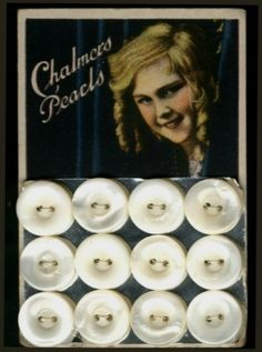 "(::)  Harvey Chalmers & Son button card circa 1920's. {Research and description as pinned by DiaNNe W. - ""Vintage Button Cards (::) CHILDREN"""
