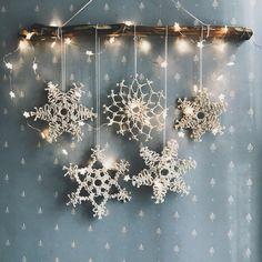 Items similar to Macrame Snowflake Chri Diy Christmas Fireplace, Diy Christmas Snowflakes, Christmas Wreaths, Christmas Crafts, Christmas Decoration Items, Snowflake Decorations, Snowflake Ornaments, Bohemian Christmas, Classy Christmas