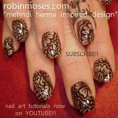 henna nail art indian wedding nail design  www.youtube.com/watch?v=GOFks6TnYcM