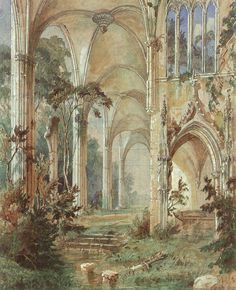 Carl Blechen: Gotische Kirchenruine (Gothic Church Ruin), 1829–1831