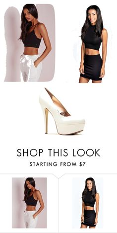 """Untitled #3639"" by clarry-sinclair ❤ liked on Polyvore featuring Missguided and Boohoo"