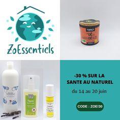 """Profitez du déstockage chez Zoessentiels pour vous équiper en spray anti-tique, en compléments alimentaires comme la vitamine D, en solution hydroalcoolique, en huiles essentielles et autres produits qui vous veulent du bien. Important : l'offre est valable du 14 au 20 juin seulement et surtout dans la limite des stocks disponibles. Pour en profiter, indiquez le code promo """"ZOE!30"""" avant de valider votre commande. Attention : offre valable dans la limite des stocks disponibles. Blog Bio, Code Promo, Boutiques, Soap, Bottle, Diet Supplements, Health Products, Vitamin E, Boutique Stores"""
