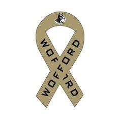 Wofford Ribbon Decal 'Terrier Head'