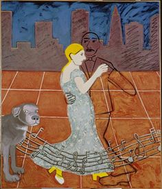 """Joan Brown, """"The Dancers in a City #2"""" (1972) 