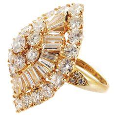 VAN CLEEF & ARPELS Marquise Shaped Diamond Ring  www.finditforweddings.com
