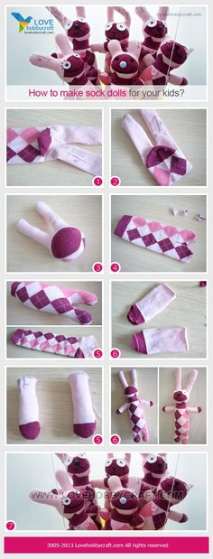 Rabbit how to make sock dolls for your kids? craft for kidshow to make sock dolls for your kids? craft for kids Sock Crafts, Cute Crafts, Crafts To Make, Sewing Crafts, Sewing Projects, Crafts For Kids, Diy Crafts, Kids Diy, Creative Crafts