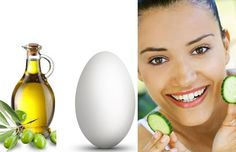 damaged-hair-home-remedies-cucumber-egg-olive-oil