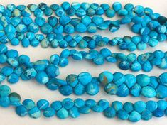 Turquoise Faceted Heart Beads Chinese Turquoise by gemsforjewels