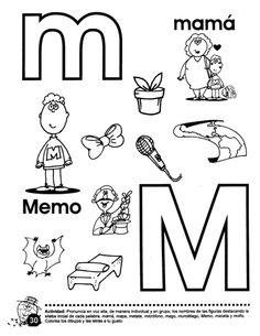 Libro trompito (1) Alphabet Worksheets, Spanish, Preschool, Teaching, Education, Children, Paper, Letter M Activities, Preschool Alphabet Activities