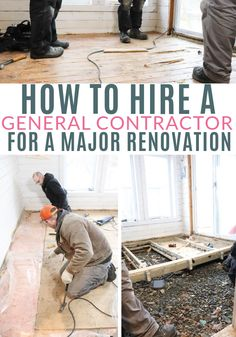 Tips for hiring a general contractor and the start of a series on major renovations; budgeting, planning and keeping the project on time. Closet Renovation, Basement Renovations, Local Contractors, General Contractors, Work Site, Waste Disposal, Going To Work, Diy For Kids, Home Projects