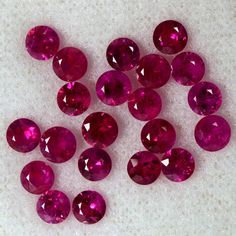 5.48 Cts Natural Top Red Ruby Gems Diamond Cut Round Lot 20 pcs Thailand 4 mm