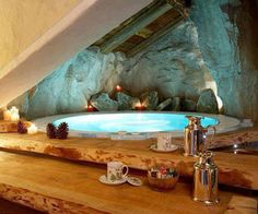 Inspirational Bathrooms with Fireplaces