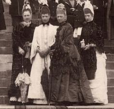 Queen Olga of the Hellenes,Empress Marie Feodorovna of Russia,Queen Louise of Denmark,Princess Alexandra of Wales, circa 1885